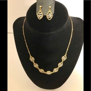 Jewelry - Necklace & Earring Set Yellow & Silver